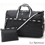 Le Sportsac(レスポートサック) ボストン 7385 ブラック×ホワイト