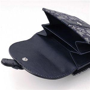 01クリスチャンディオール/Christian Dior Wホック財布 CLL43025/ネイビー