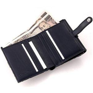 01クリスチャンディオール/Christian Dior Wホック財布 LDC43025/ブラック