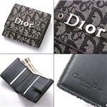 Christian Dior(クリスチャンディオール) Wホック財布 LDC43025 ブラック