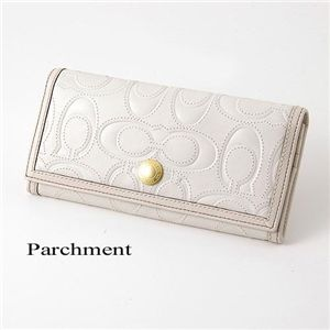 COACH(コーチ) シグネチャーレザー長財布 Parchment