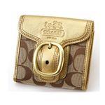 COACHコーチ ダブルホック財布 41524 Goldゴールド新品¥29800