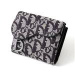 Christian Dior トロッター ダブルホック財布 SLO43025 N0・Black×Oro