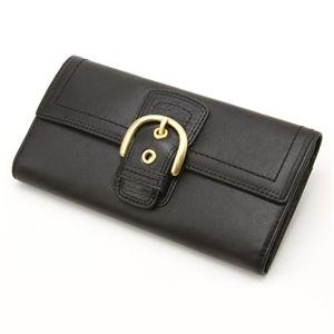 COACH(コーチ) 人気ラインが2型も☆長財布 ソーホー Black