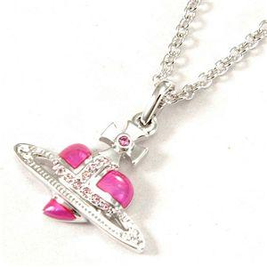 Vivienne Westwood(ヴィヴィアンウエストウッド) ネックレス Diamante Heart/Enamel Orb Pink