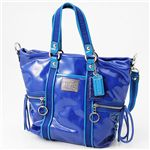 COACH(�R�[�`) �V�����_�[�x���g�t 2WAY�o�b�O POPPY SV/LC �u���[