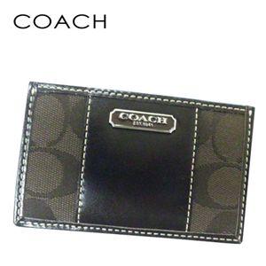 COACH(コーチ) パスケース SBRBR 43341 キャンバス×カーフ