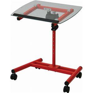 ガラスノートPCテーブル NPTB550RD