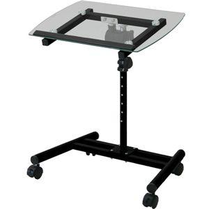 ガラスノートPCテーブル NPTB550BK
