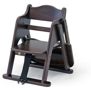 木製ベビーローチェアー(トレイ付) XL-SW009 BR