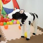 子供用 ぬいぐるみ/人形 【牛(S)型】 幅16cm 〔おもちゃ 子ども部屋〕の詳細ページへ