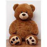 子供用 ぬいぐるみ/人形 【熊型 ブラウン】 幅50cm 〔おもちゃ 子ども部屋〕の詳細ページへ