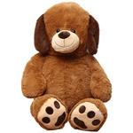 子供用 ぬいぐるみ/人形 【犬型 ブラウン】 幅45cm 〔おもちゃ 子ども部屋〕の詳細ページへ