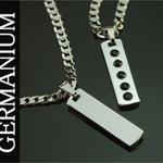 <strong>ゲルマニウム「メタルプレートネックレス」高級ケース付き</strong> Lサイズ