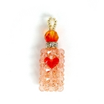 【Rosybear】スワロフスキー社クリスタル魅惑の香水ストラップ(サンタオレンジ)