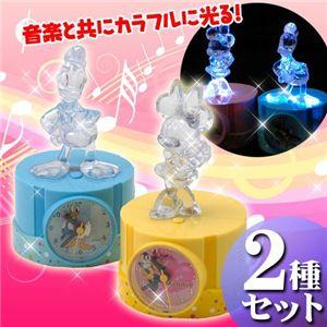 ディズニー クリスタルアラーム2種セット【ミニー&ドナルド】