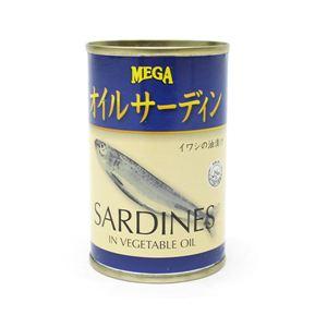 MEGA オイルサーディン レギュラー イワシの油漬け 155g 48個セット