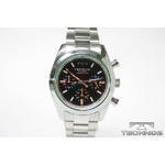 TECHNOS(テクノス) クロノグラフ腕時計 シルバーブラック TBM527SB