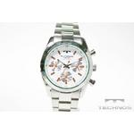 TECHNOS(テクノス) クロノグラフ腕時計 シルバーホワイト TBM527SW