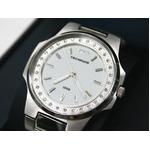 テクノス 腕時計 スリム レディース ホワイト