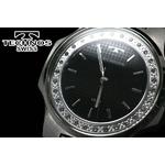 テクノス 腕時計 スリム レディース ブラック