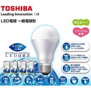 TOSHIBA E-CORE[イーコア] LED電球 6.4W  昼白色(LDA6N/2)