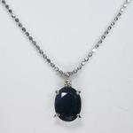 《地球遺産シリーズ》シルバー2.0ctupブルーサファイアダイヤモンド入りネックレス