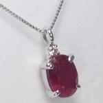 《地球遺産シリーズ》シルバー1.0ctup ルビーダイヤモンド入りネックレスの詳細ページへ