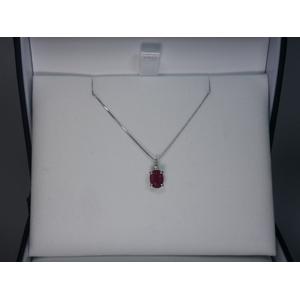 《地球遺産シリーズ》シルバー1.0ctup ルビーダイヤモンド入りネックレス
