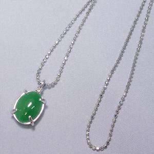 《地球遺産シリーズ》シルバー3.0ctup 翡翠(ヒスイ)ダイヤモンド入りネックレス