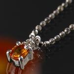 《地球遺産シリーズ》シルバー0.3ctupゴールデンサファイアダイヤモンド入りネックレスの詳細ページへ
