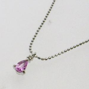 《地球遺産シリーズ》シルバー0.3ctupピンクサファイアダイヤモンド入りネックレス