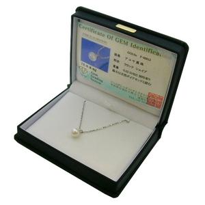 《地球遺産シリーズ》シルバー7.0ミリup花珠パールダイヤモンド入りネックレス