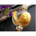 《健やかで幸せな長寿を手に入れる》大玉金彫り 銭亀 縁起物ストラップ《パワーストーン・天然石》の詳細ページへ