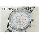 JH Collection 自動巻マルチ腕時計 白 メンズ JJH8NW