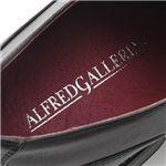 ALFRED GALLERIA ロングノーススクエアトゥドレスシューズ AG1047 (レース)ブラック 42 (26.0cm)
