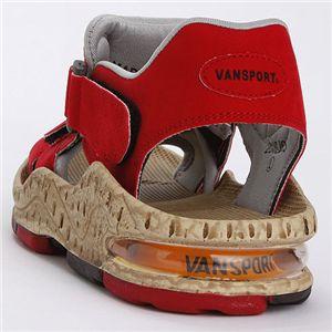VANSPORT(ヴァンスポーツ) エアークッションスポーツサンダル レッド LL(27.0-27.5cm)