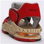 VANSPORT(ヴァンスポーツ) エアークッションスポーツサンダル レッド M(25.0-25.5cm)