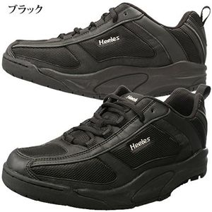 【在庫処分特価】ウォーキングシューズ Heelesウォーカー ブラック 24.0cm