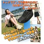 ウォーキングシューズ NEW Dr.Heelesカジュアル ブラック 24.0cm