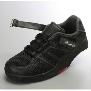 ウォーキングシューズ NEW Heeles ウォーカー ブラック 24.5cm