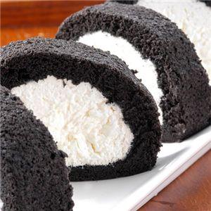 緑茶にも合いそう♪紀州備長炭ロールケーキ                                               <2本セット>