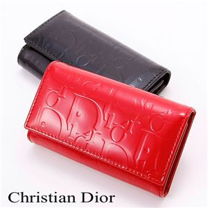 Christian Dior(クリスチャン ディオール) エンボス キーケース NO Black