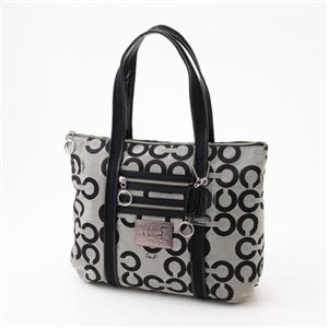 COACH(コーチ) トートバッグ POPPY 14530SV/BW・BlackGrey