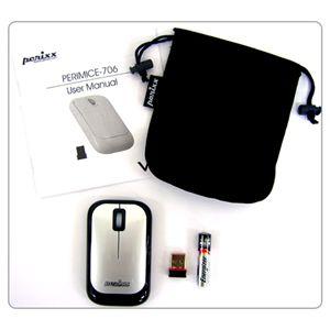 perixx(ペリックス) 2.4GHzの安定ワイヤレスのマウス PERIMICE-706 ホワイト