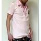 2枚襟フェイクポロシャツ  J7493 ピンク M 写真2