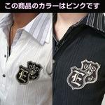 2枚襟フェイクポロシャツ  J7493 ピンク L
