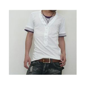 ディーライト フェイクシャツ8149/ホワイト L