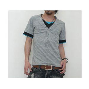 ディーライト フェイクシャツ8149/グレー L