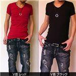 【男の色気NO.1!】モテピタT Vネック ブラック